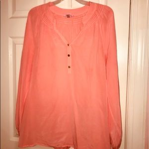 Sherbet Orange Lilly Pulitzer Elsa Top/Blouse